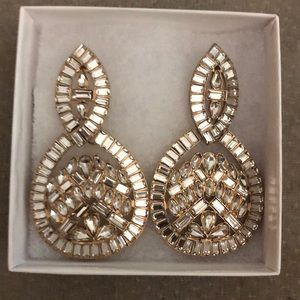 Badgley Mischka statement earrings